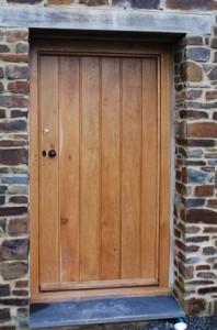 Oak Door Devon Stone Wall
