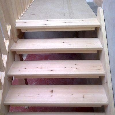 Bespoke Ash Wood Staircase Bannister Balustrades1