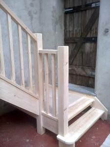 Bespoke Ash Wood Staircase Bannister Balustrades4