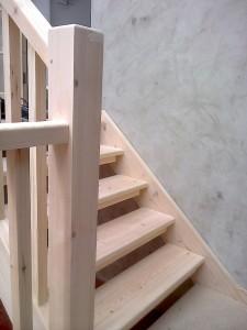 Bespoke Ash Wood Staircase Bannister Balustrades5