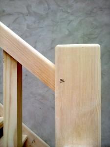 Bespoke Ash Wood Staircase Bannister Balustrades6