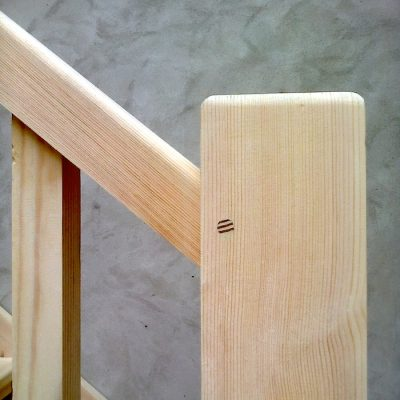 Bespoke Ash Wood Staircase Bannister Balustrades6