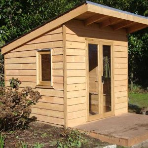 Custom Built Cedar Wood Garden Shed Sunroom Crediton