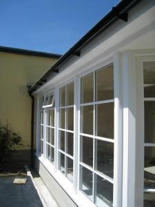 Custom Built Wooden Sun Room Exterior JG Carpentry Devon Joiners1