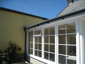 Custom Built Wooden Sun Room Exterior JG Carpentry Devon Joiners2