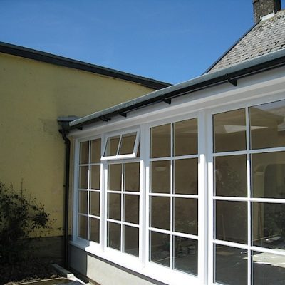 Custom Built Wooden Sun Room Exterior JG Carpentry Devon Joiners2
