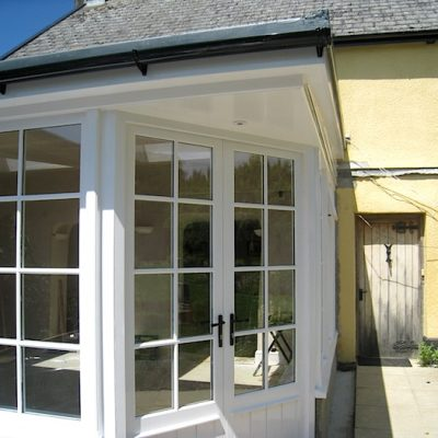 Custom Built Wooden Sun Room Exterior JG Carpentry Devon Joiners3