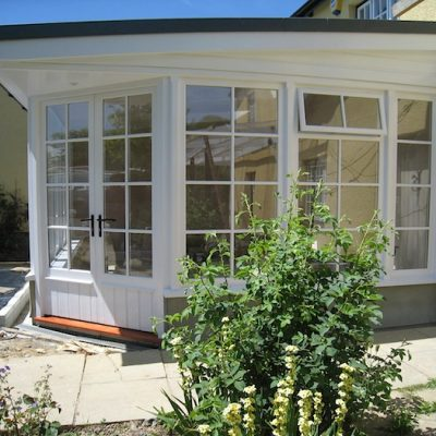 Custom Built Wooden Sun Room Exterior JG Carpentry Devon Joiners4