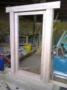 Custom Oak Window Frame JG Carpenters Devon1