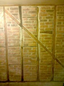 Medieval Oak Beams Brick Wall1