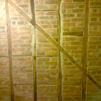 Medieval Oak Beams Brick Wall1