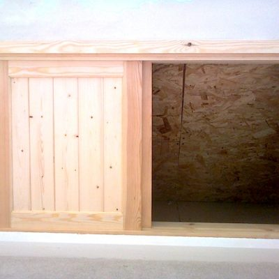 Pine Wood Cupboard In Wall1