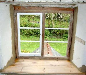 Custom Built Bespoke Oak Windows Replacing Old Window After