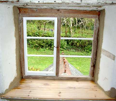Custom Built Bespoke Oak Windows Replacing Old Window After