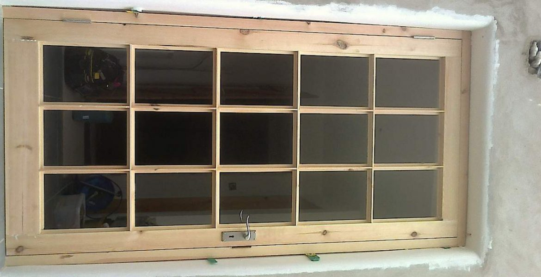 Bespoke Glass Pane Ash Wood Door Garden Entrance