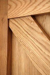 Oak Framed Ledge And Brace Door Joint Detail Poughill Devon