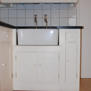 Custom Built Pine Wood Sink Unit