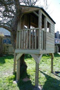 Custom Built Treehouse Devon Country Garden