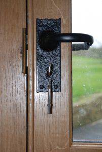Custom Oak Door Detail Up Close