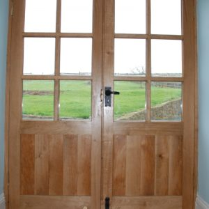 Custom Oak French Doors