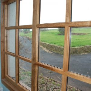 Designer Oak Window Multiple Pane