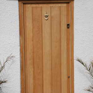 Framed Ledge And Brace Oak Door