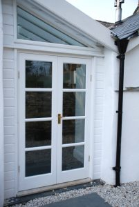French Doors Glazed Roof Custome Made