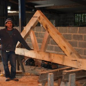 Green Oak Timber Frame Roof Truss
