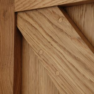 Joint Detail Framed Ledge And Brace Oak Door