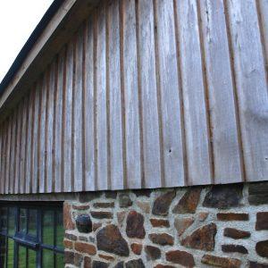 Oak Feather Edge Boarding Traditional Devon Stone Wall