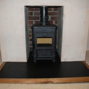 Old Devon House Fireplace Slate Hearth Oak Surround