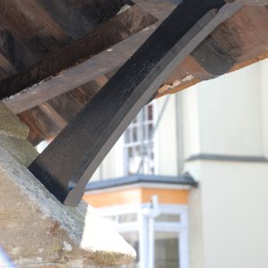 Replacement Pitch Pine Roof Brace North Tawton Clock Tower