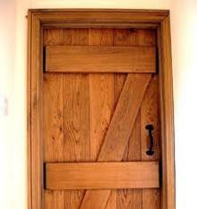 Hand Crafted Solid Oak Door Devon Joiners JG Carpenters