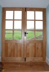 Custom Oak French Doors