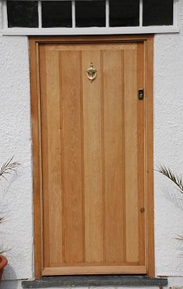 Framed Ledge And Brace Oak Door