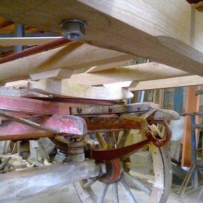 17th Century Wooden Cart Restoration2