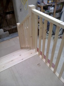 Bespoke Ash Wood Staircase Bannister Balustrades
