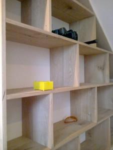 Bespoke Oak Wood Book Shelf With Portal Window1