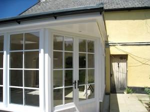 Custom Built Wooden Sun Room Exterior JG Carpentry Devon Joiners3