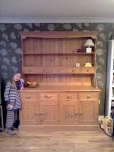 Custom Made Pine Book Shelf Cabinets