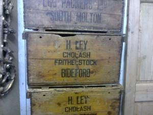 Old Fishing Boxes Set Of Drawers