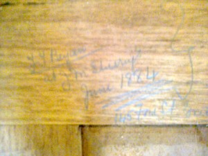 Old Signature On Oak Beam Carpenters From1884