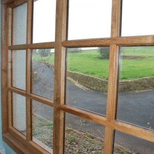 Designer Oak Window Multiple Pane