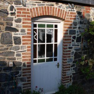 New Door Opening Brick Reveals Brick Arch Reclaimed Door