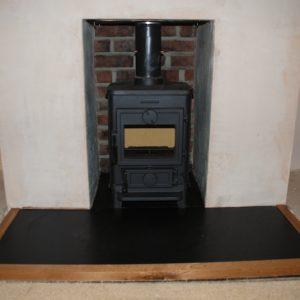 Old Devon House Fireplace Slate Hearth Oak Surround