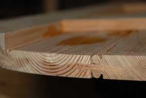 Vintage Pine Door Joint Detail Loose Tongue